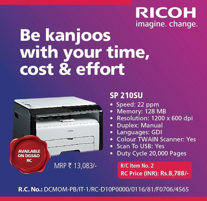 Ricoh Printer Offer