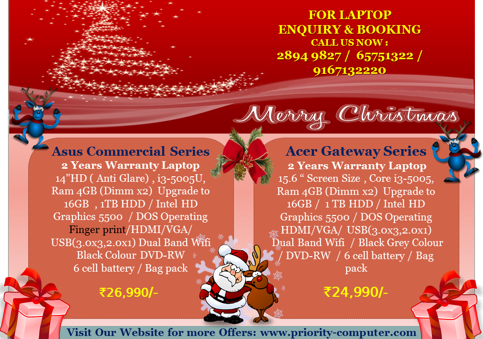 Core i3 Laptop Starts @ 24,990/- with 2 Years Warranty